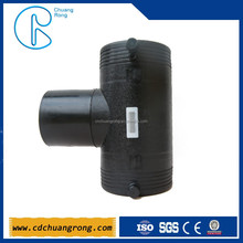 HDPE compression hydraulic plumbing tee fittings