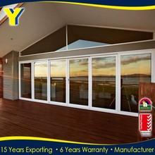 6 Years Warranty with Powder coated surfacement &Low door threshold for Aluminum Frame Glass Door