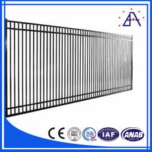 Alliage de haute qualité 6061,60636 anodisé noir Aluminium clôture Section
