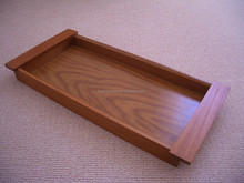 Vintage Retro Dining 1960's 70's Old Hall Teak Wood Hors D'Oeuvres Tray Cocktail