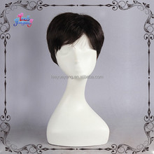 Black Short Haircut Synthetic Male Wig Men's Toupee