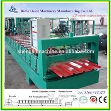 china maschinenlieferanten vollautomatische farbig beschichtetem blech farbe rollen stahl profiliermaschine