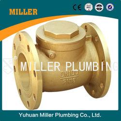 MILLER 2 1/2 inch Trade assurance large discharge 400 wog Flange Brass check valve ML--1409