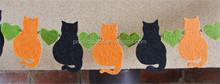 Hot sell Cat Garland, Halloween Cat Bunting Felt Garland made in China