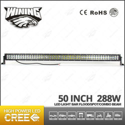 China Supplier 50inch 4x4 Led Light Bar , Factory Wholesale High Power 50 inch 288w Led Light Bar
