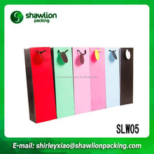Beautiful colors high quality wine bottle paper bag