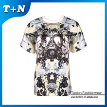 mens suit printed tshirt foil printing tshirt sample