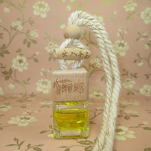 Shenzhen lihome supply 7ml hanging car air freshener glass bottle with floral design