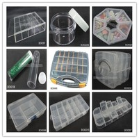 Wholesale cheap stocked jewelry storage box organizer plastic bead containers