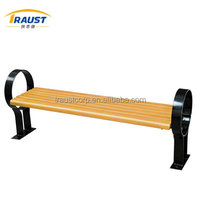 Refined high quality outdoor furniture wooden patio bench garden chair without backrest