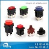 waterproof self-locking illuminated push button micro switch
