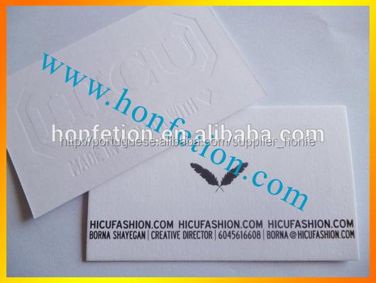 Alta- final debossed logotipo do cartão