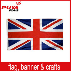 100% polyester printing 3x5ft country UK flag,wholesale England national flag,custom Britian flag for election