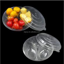 hot sale food grade compartment plastic disposable fruit dish / fruit box container