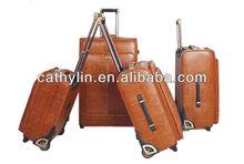 PU or PVC leather luggage set