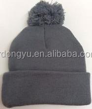 mens knitted winter bobble hat