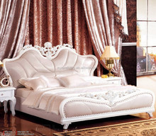 European style solid wood carving antique wooden bedroom R870