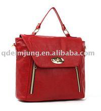 Lady tote and handbag Dual-use pu bag