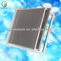Return Air Hinged Filter Grille with Frame