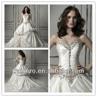 New arrival western style wedding factory dresses for mature women XK-1182
