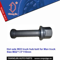 Hot sale truck hub bolt and nut for Man truck