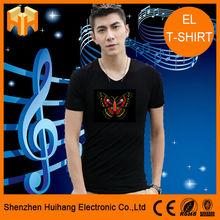 EL Shinning T-Shirts Sound Sensor EL T-Shirt