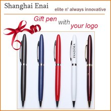 Slim and high grade promotional metal ballpoint pen brands pen with LOGO engraved