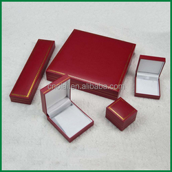 stock red,blue,black paper covered plastic ring,earring,pendant,bangle,bracelet,necklace,jewelry case wholesale