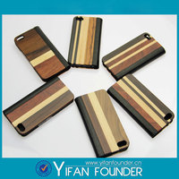 Genuine leather wood case for Apple iphone 5 5s book style