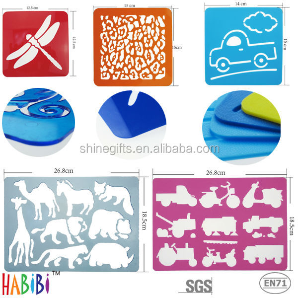 Fashin plastic stencil for drawing set