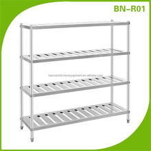 BN-R01 Commercial Stainless Steel Kitchen Storage Rack/Metal Storage Rack/4 Tire Storage rack
