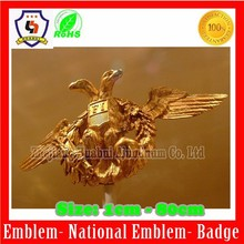 Double-headed eagle metal badges, Two-headed eagle emblem (HH-emblem-099)