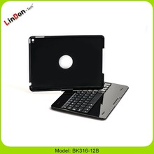 2015 New Bluetooth Keyboard Case for iPad air 2 highest quality wireless Keyboard Case for iPad 6, 3 in 1 multifuctions