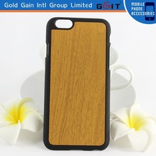 Wood Grain PU PC Hard Case For iPhone 6 for business