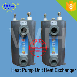 Easy installation 15.0HP titanium tube and shell heat exchanger for pool