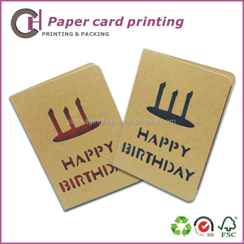 Pay for paper greeting cards at home