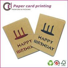 Handmade kraft paper greeting cards, happy birthday cards printing service