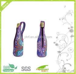 New design champagne bottle tote bag