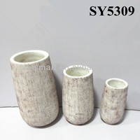 Small top tall decorationve flower holders large cement plant flower pots