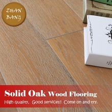 Natural Oak Solid Wood floors European Wash Brushed Wood Flooring /low parquet wood flooring prices