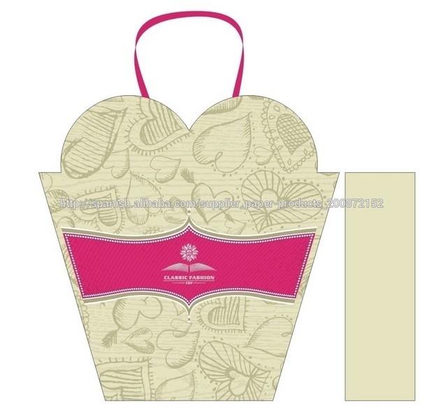 papel kraft nuevos usos en dise 241 o corporativo packaging personalizado nuevo dise 241 o forma de coraz 243 n especial regalo bolsa de papel con asas de cinta