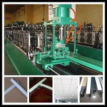 suspension ceiling T grid ,T bar . metal Tee , Tee bar roll forming machine