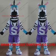 Life size sport events zebra mascot for basketball match soft plush fit all adult unisex zebra mascot