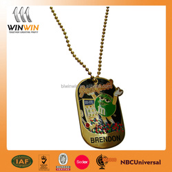 2015 promotinal casting with enamel dog tag for gifts