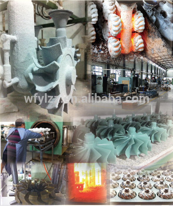 preciaion metal parts corrosion resistant turbine rotor used for outboard motor jet engine