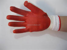 Laminated rubber latex gloves