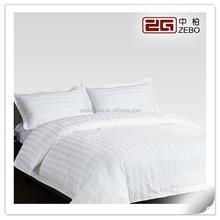 100% Cotton White 3cm Stripe Fabric Wholesale Hotel Bedding Duvet
