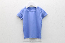 new design simple top cotton plain baby short sleeves t shirt