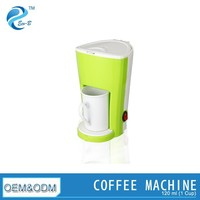 Promotion Coloful Mini 1 Cup Coffee Maker With Ceramic Cup