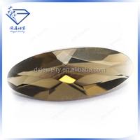 Wholesale loose oval shape loose gemstone semi-precious glass stone